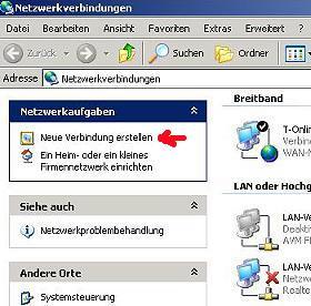 Windows XP DSL Verbindung einrichten