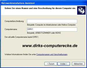 WindowsXP Netzwerk Bild 4