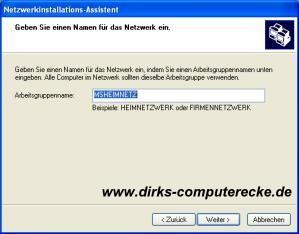 WindowsXP Netzwerk Bild 5