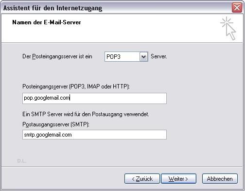 Email-Konto mit Outlook Express einrichten