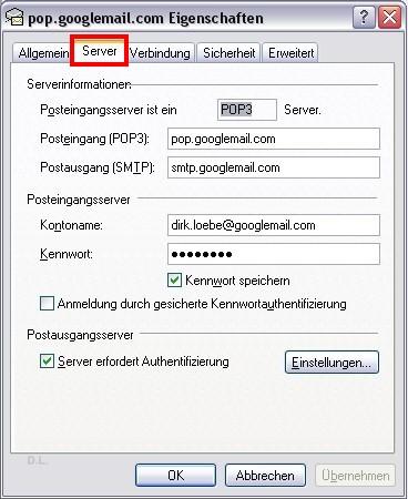 Server erfordert Authentifizierung
