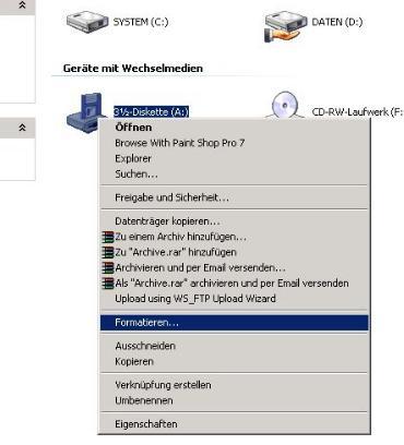startdiskette windows xp bild1