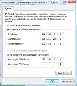 Netzwerk einrichten unter Windows Vista