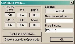 Internetverbindungsfreigabe mit AnalogX Proxy