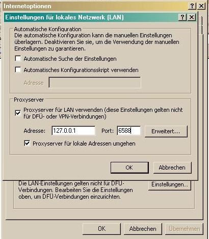 AnalogX Proxy IP-Adressen