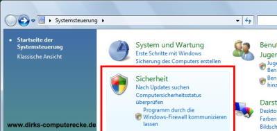 Firewall konfigurieren Vista