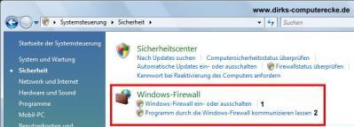 Windows Firewall einschalten oder ausschalten