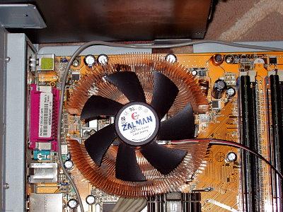 Mainboard Kühler einbauen