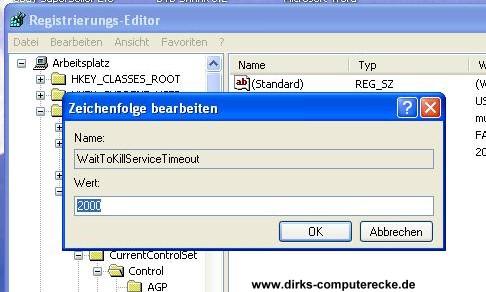 Shutdown Windows XP beschleunigen