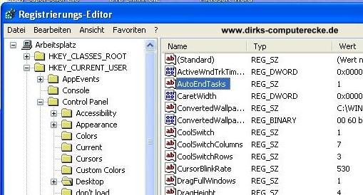 Herunterfahren Windows XP beschleunigen