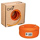 HB Digital Netzwerkkabel LAN Verlegekabel Cabel 50m cat 7 Kupfer Profi S/FTP PIMF LSZH Halogenfrei...