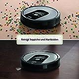 IRobot Roomba 960 Saugroboter (hohe Reinigungsleistung, keine Verhedderungen und mit Dirt Detect, reinigt alle Hartböden und Teppiche, ideal bei Tierhaaren, WLAN-fähig) silber