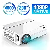 ABOX 4000 Lumen Beamer, Native 1080p (1920 x 1080) LED Videoprojektor tragbarer Full HD,...