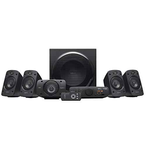 Logitech Z906 5.1 Sound System, Lautsprecher mit 1000 Watt Surround Sound, THX, Mehrere Audio-Eingänge,...