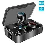 Bluetooth Kopfhörer in Ear, YONMIG Kabellos Bluetooth 5.0 Headset mit 3000mAh Ladebox Wireless Noise...