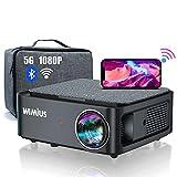 Beamer, WiMiUS Full HD 1080P Beamer 5G WiFi Bluetooth Beamer Unterstützung 4K Video, LED...