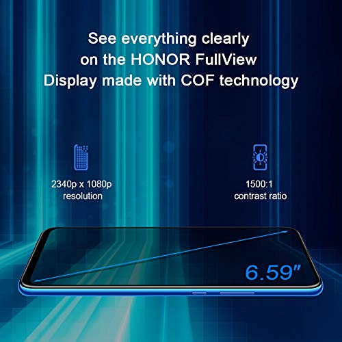 Honor 9X Handy Smartphone, 4GB+128GB, 6,59' FullView-Display, 48M AI Rückfahrkamera, 16MP...