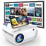 GROVIEW WiFi Beamer, 7000 Lumen Mini Video Beamer mit Bildschirm, 1080P Unterstützung, eingebaute...