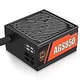 ARESGAME PC-Netzteil 850W Semi-modulares Kabelmanagement 80Plus Gold (AGS850)