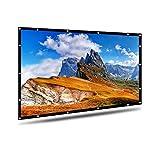 Beamer Leinwand, AYAOQIANG 4K 3D HD 16: 9 120 Zoll Einfache Zusammenfaltbare Projektionswand-...