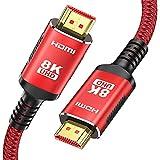 HDMI 2.1 Kabel 8K 2M-Snowkids 8K@60HZ & 4K @ 120HZ/144HZ RTX 3080 DSC 48Gbps For PS5 Konsole DTS: X,...