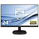 Philips 243V7QJABF/00 60 cm (23,8 Zoll) Monitor (VGA, HDMI, Displayport, 5ms Reaktionszeit, 1920 x...