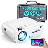 WiFi Bluetooth Beamer, WiMiUS 7000 L Mini Beamer Full HD Heimkino Projektor Support 1080P Video...