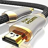 2m 8K HDMI Kabel 2.1-8K@60Hz 4K @ 120Hz DSC - HDTV 7680 x 4320 - UHD II - HDMI 2.1 2.0a 2.0b - 3D...