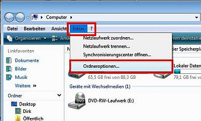 Windows Vista Explorer Ordner Ansicht