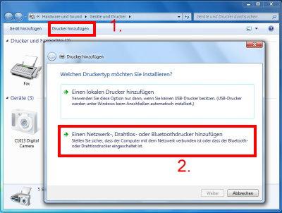 Drucker hinzufügen Windows 7