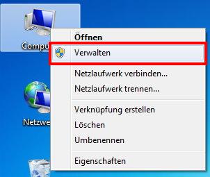 Computerverwaltung öffnen