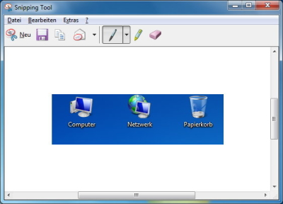 Screenshot bearbeiten oder speichern
