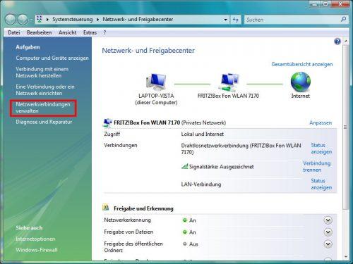 Netzwerkverbindungen verwalten