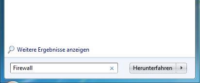 Firewall öffnen unter Windows 7