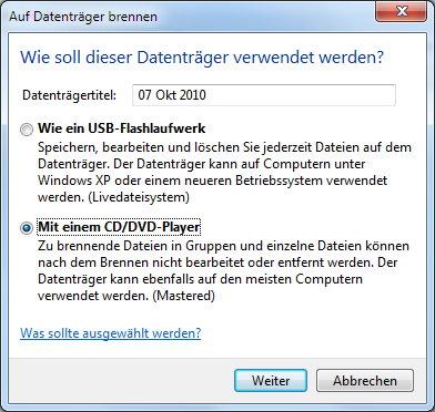 Verwendung der ISO-Datei festlegen