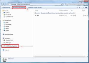 Windows 7: ISO-Datei mit Bordmitteln brennen