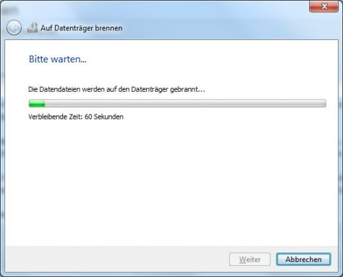 Brennvorgang ISO-Datei unter Windows 7