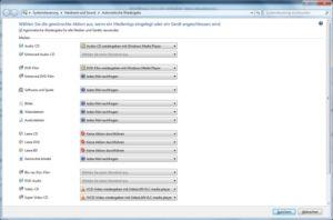 Automatische Wiedergabe unter Windows 7 konfigurieren