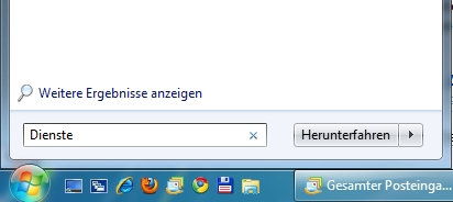 Windows 7 Dienste öffnen