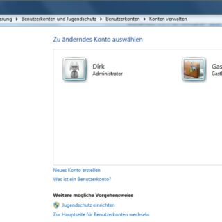 Windows 7: Administrator-Konto aktivieren