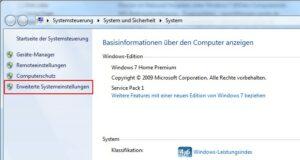Arbeitsgruppe ändern bei Windows 7