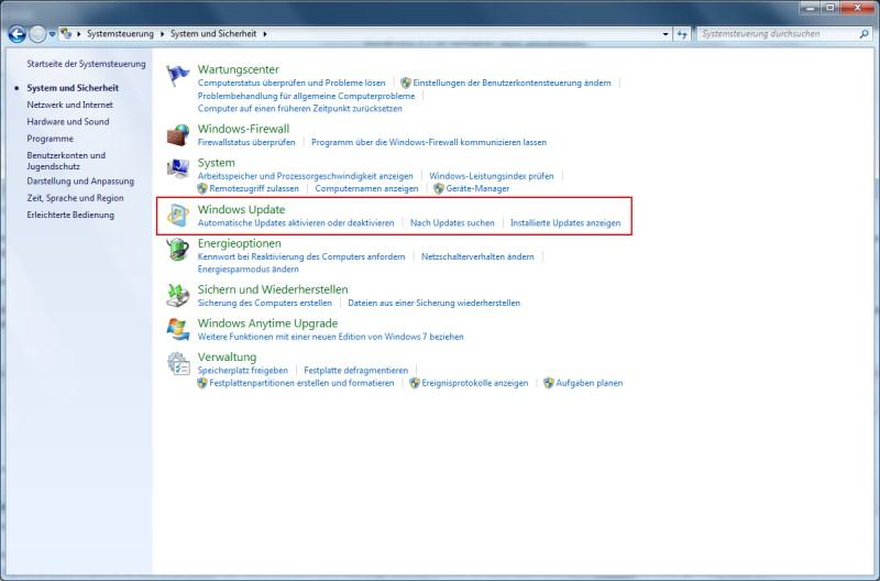 Windows 7 automatische Updates
