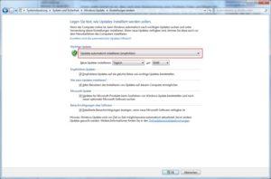 Automatische Updates aktivieren bzw. deaktivieren