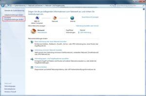 Windows 7 Netzwerk- und Freigabecenter