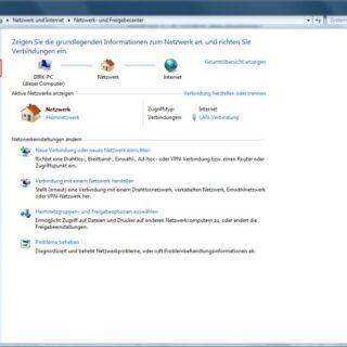 Windows 7: Benutzername und Passwort im Netzwerk abschalten