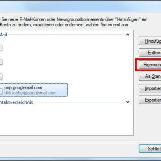 Email-Konten von verschiedenen Rechnern abfragen
