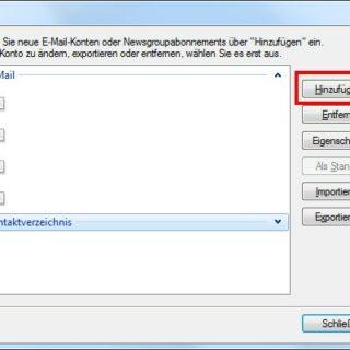 Email-Konto einrichten mit Windows Live Mail