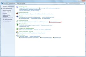 Windows 7: Installierte Updates des Windows Update anzeigen lassen