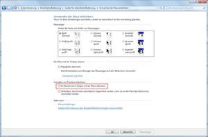Windows 7: Fenster durch Zeigen mit der Maus aktivieren