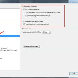 PDF-Dateien nicht im Browser sondern im Adobe Reader öffnen